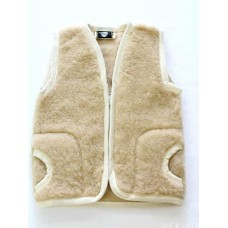 BEIGE Childrens Merino Wool Vest Natural BABY Junior Body Warmer Vest Waistcoat
