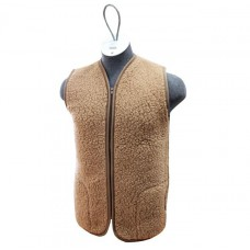 BROWN Merino Wool Vest Natural Body Warmer Vest Waistcoat ALL SIZES