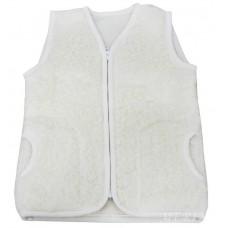 ECRU Childrens Merino Wool Vest Natural BABY Junior Body Warmer Vest Waistcoat