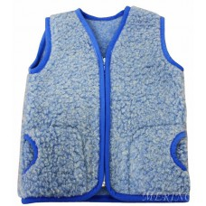 BLUE Childrens Merino Wool Vest Natural BABY Junior Body Warmer Vest Waistcoat