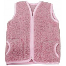 PINK Childrens Merino Wool Vest Natural BABY Junior Body Warmer Vest Waistcoat