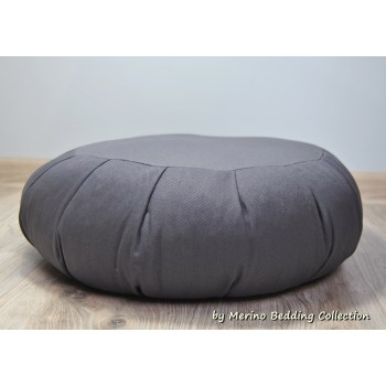 GREY Medical VEGAN Organic Yoga Pillow Round Zafu Mat Buckwheat Meditation Cushion