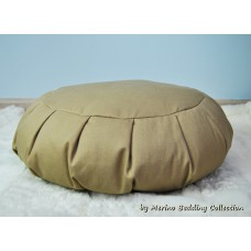 BEIGE Medical VEGAN Organic Yoga Pillow Round Zafu Mat Buckwheat Meditation Cushion