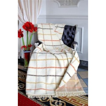 COTTON COMFY Throws Bedspread Cotton Blanket with Fringes - Bed Cover 9