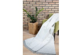 COTTON COMFY Throws Bedspread Cotton Blanket with Fringes - Bed Cover 8