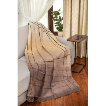 COTTON COMFY Throws Bedspread Cotton Blanket with Fringes - Bed Cover 5