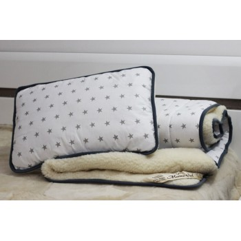 STARS Wool & Cotton Duvet 120 x 150 cm + Pillow 40 x 60 cm