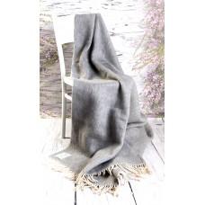 Merino Wool Blanket Tartan Rug Grey Wool Throw  Double Bed size 160/200cm