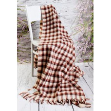 Merino Wool Blanket / Wool Throw Double size 160 x 200 cm light grey