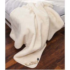 ECRU Cashmere Merino Wool Blanket / Wool Throw