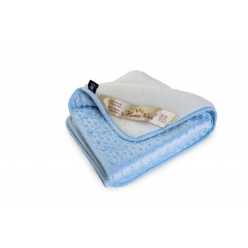 Warm & Natural  Merino Wool Baby Blanket Cot Bed Blanket Cot Pram Cashmere & Bubble Velboa