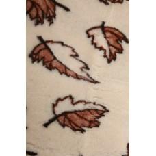 Natural & Warm Merino Wool Blanket Bed Wool Throw , Bed Cover Sofa Pad HALF LEAF
