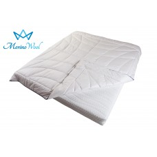 Merino Wool Duvet CLASSIC COMFORT Bedding Quilt White Cotton Covered + Wool Filling 8-10.5tog 500gsm Medium Weight