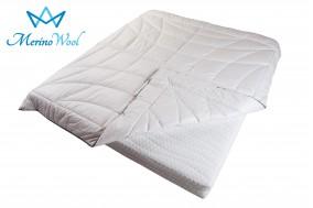 Merino Wool Duvet CLASSIC COMFORT Bedding Quilt White Cotton Covered + Wool Filling 8-10.5tog 500gsm Medium Weight