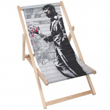 MAN WITH FLOWERS Modern Sun Loungers Padded Wooden Garden Adirondack Chair PATIO SEASIDE Folding Hardwood Beach