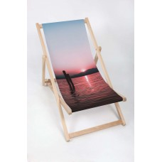 SUNSET Modern Sun Loungers Padded Wooden Garden Adirondack Chair PATIO SEASIDE Folding Hardwood Beach