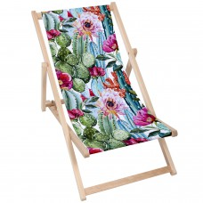 BIG PINK FLOWER Modern Sun Loungers Padded Wooden Garden Adirondack Chair PATIO SEASIDE Folding Hardwood Beach