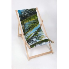 PALM LEAVES Modern Sun Loungers Padded Wooden Garden Adirondack Chair PATIO SEASIDE Folding Hardwood Beach
