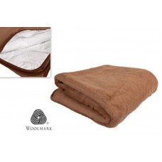 80x190cm LUXURY MERINO PURE WOOL CAMEL UNDER BLANKET 100% NATURAL ,Mattress Topper