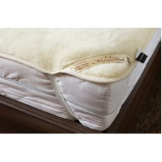 Luxury Merino Wool Cashmere Mattress Topper Underblanket Reversible Bed Pad