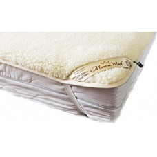 Natural Merino Wool Standard Wool Topper / Bed Sheet / Under blanket / Mattress Topper / Bed Pad / All Sizes : SINGLE , DOUBLE , KING