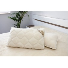 Natural Bed Pillow CASHMERE CARO Merino Wool Pillow  + Pillow Cover with wool filling  (1pcs)