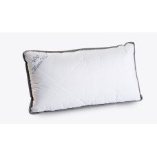 "Pack of 2 Grey Merino Wool Pillows 45 x 75 cm + Removable Cotton Zipped Cover 19"" x 29""  Hypoallergenic"