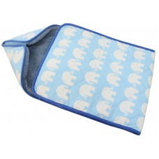 BLUE ELEPHANTS BABY SWADDLE , SLEEPING BAG SNUGGLE WRAP , Sleepsacks