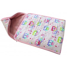 PINK OWLS BABY SWADDLE , SLEEPING BAG SNUGGLE WRAP , Sleepsacks
