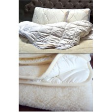 BEDDING SET LUXURY MERINO WOOL DUVET MEDIUM WEIGHT 3 SEASON 8-10.5tog , UNDERBLANKET & 2xPILLOW KING SIZE